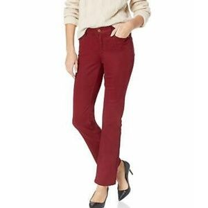 Burgundy Straight Khaki Chino Pants Jones New York